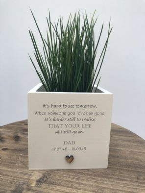 Personalised Flower / Plant Pot In Memory Loved One DAD Memorial MUM OR ANY NAME - 333290381773